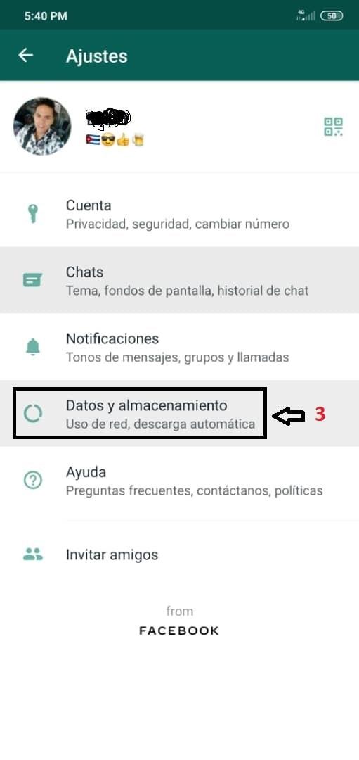 Configurar Whatsapp imágenes y videos
